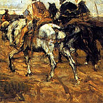 Horses and Knights, Giovanni Boldini