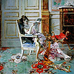 Giovanni Boldini - Girl Reading in a Salon 1876