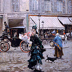 Giovanni Boldini - Crossing the Street 1875