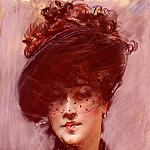 Lady with a Black Hat , Giovanni Boldini