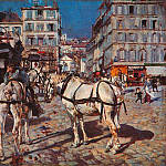 Bus on the Pigalle Place in Paris, Giovanni Boldini