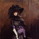 Portrait of the Marchesa Luisa Casati with a Greyhound, Giovanni Boldini