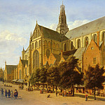 The Exterior Of The Church Of Saint Bavo In Harlem SnD 1666 O P 60, Gerrit Adriaensz Berckheyde