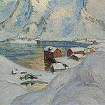 Anna Katarina Boberg - An Arctic Spring Day. Study from North Norway