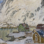 Anna Katarina Boberg - At the Foot of the Mountain. Study from Lofoten