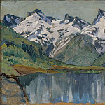 Anna Katarina Boberg - A Mountain Lake. Study from North Norway
