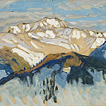 Anna Katarina Boberg - Mountains. Study from Switzerland