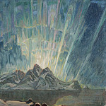 Anna Katarina Boberg - Northern Lights. Study from North Norway