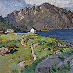 Summer, Store Molla. Study from Lofoten