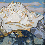 Anna Katarina Boberg - The White Mountain Top. Study from Switzerland