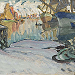 Anna Katarina Boberg - From Svolvaer Harbour. Study from Lofoten