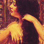 James Carroll Beckwith - Brunette Combing Her Hair