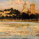 James Carroll Beckwith - The Palace of the Popes and Pont d-Avignon