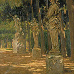 James Carroll Beckwith - Carrefour at the End of the Tapis Vert Versailles