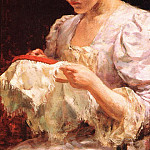 James Carroll Beckwith - The Embroiderer