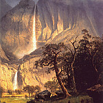 Albert Bierstadt - lrs Bierstadt Albert Cho Look The Yosemite Fall