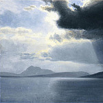 Albert Bierstadt - Approaching Thunderstorm on the Hudson River