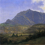 Albert Bierstadt - Indian Encampment