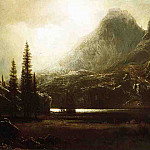 Albert Bierstadt - By a Mountain Lake