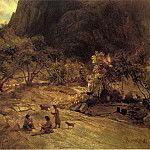 Mariposa Indian Encampment Yosemite Valley California, De Schryver Louis Marie