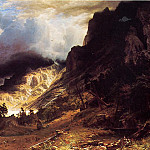 Albert Bierstadt - A Storm in the Rocky Mountains Mr. Rosalie