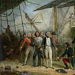 Nelson Boarding the San Josef on 14th February 1797 after Sir John Jervis victory off Cape St. Vincent , J Wambli Nelson