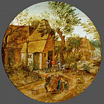 Pieter Brueghel the Younger - Village Street with Peasants