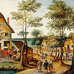 Pieter Brueghel the Younger - Landscape with the Holy Family at the tavern