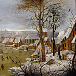 Pieter Brueghel the Younger - Winter Landscape with Bird Trap
