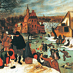 Pieter Brueghel the Younger - Winter, skating