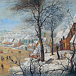 Pieter Brueghel the Younger - Winter landscape with a bird trap