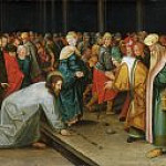 Pieter Brueghel the Younger - Christ and the Woman Taken in Adultery