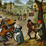 Pieter Brueghel the Younger - A Village Street with Peasants