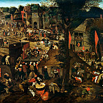 Pieter Brueghel the Younger - Village festival in Honour of Saint Hubert and Saint Anthony