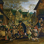 Pieter Brueghel the Younger - The blind hurdy-gurdy and children