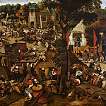 Pieter Brueghel the Younger - Fair with a theatrical representation