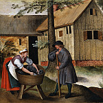 Pieter Brueghel the Younger - Geese Shepherd And Peasant Woman