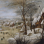 Pieter Brueghel the Younger - Winter Landscape with Skaters and a Bird Trap