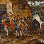 Pieter Brueghel the Younger - Brawl between peasants and soldiers