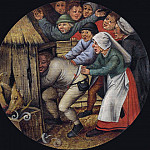 Pieter Brueghel the Younger - Flamish Proverbs - The Drunkard pushed into the Pigsty