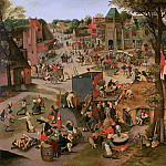 Pieter Brueghel the Younger - Village Festival in Honour of St. Hubert and St. Anthony