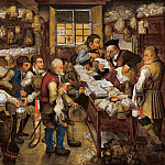 Pieter Brueghel the Younger - The tax-collector's office