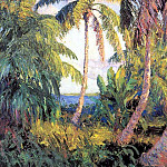 Albert Ernest Backus - gentle breezes palm grove