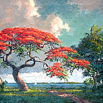 Albert Ernest Backus - gentle_breezes_csg013_poinciana_on_the_indian_river