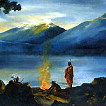 Albert Ernest Backus - gentle breezes indian campfire