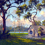 Albert Ernest Backus - gentle breezes old cracker shack