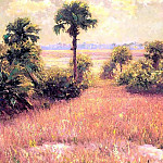 Albert Ernest Backus - gentle breezes early back country scene