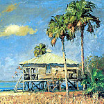 Albert Ernest Backus - gentle breezes beach house at sanibel