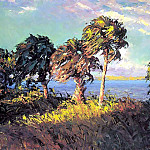 Albert Ernest Backus - gentle breezes cabbage palms