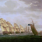 Thomas Buttersworth - Nelson on the Theseus with the Inshore Squadron off Cadiz, July 1797